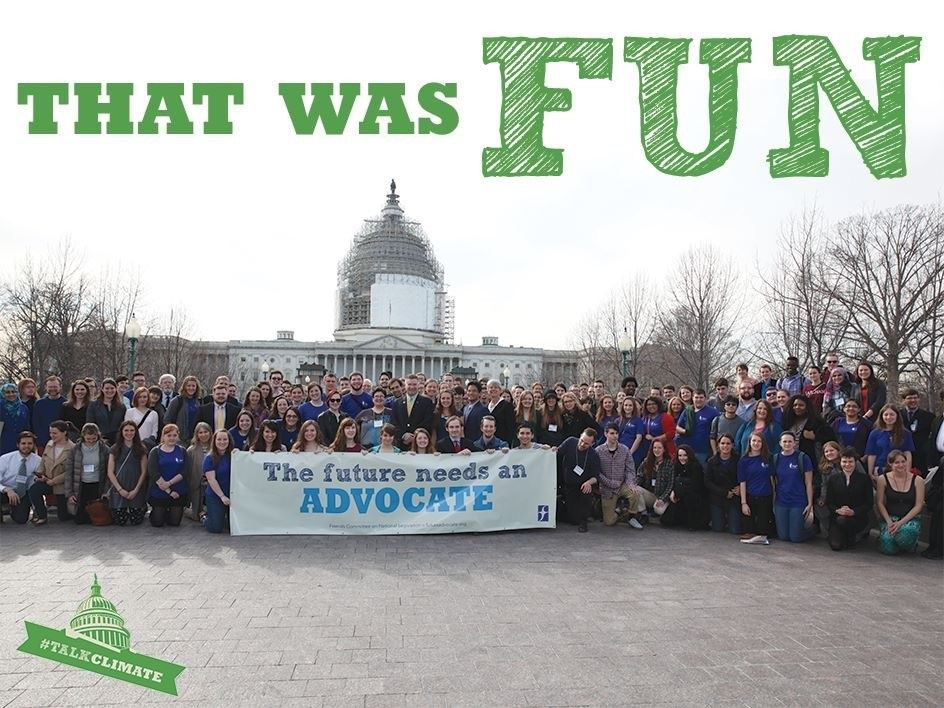 2015 SLW attendees in front of the Capitol. My alma mater is representing in blue shirts.