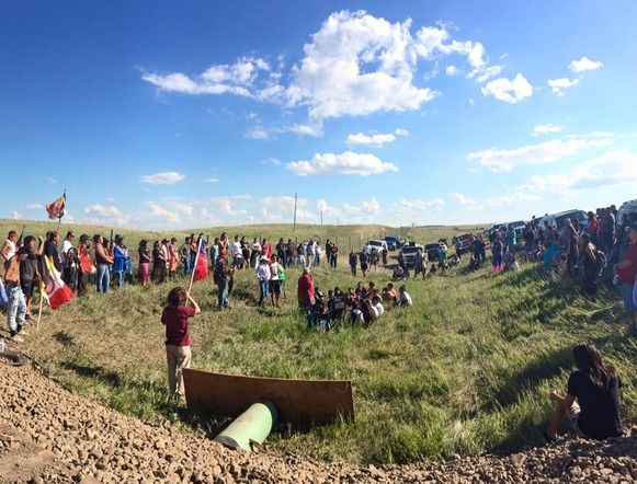 Protests against the Dakota Access Pipeline.  freethoughtblogs.com