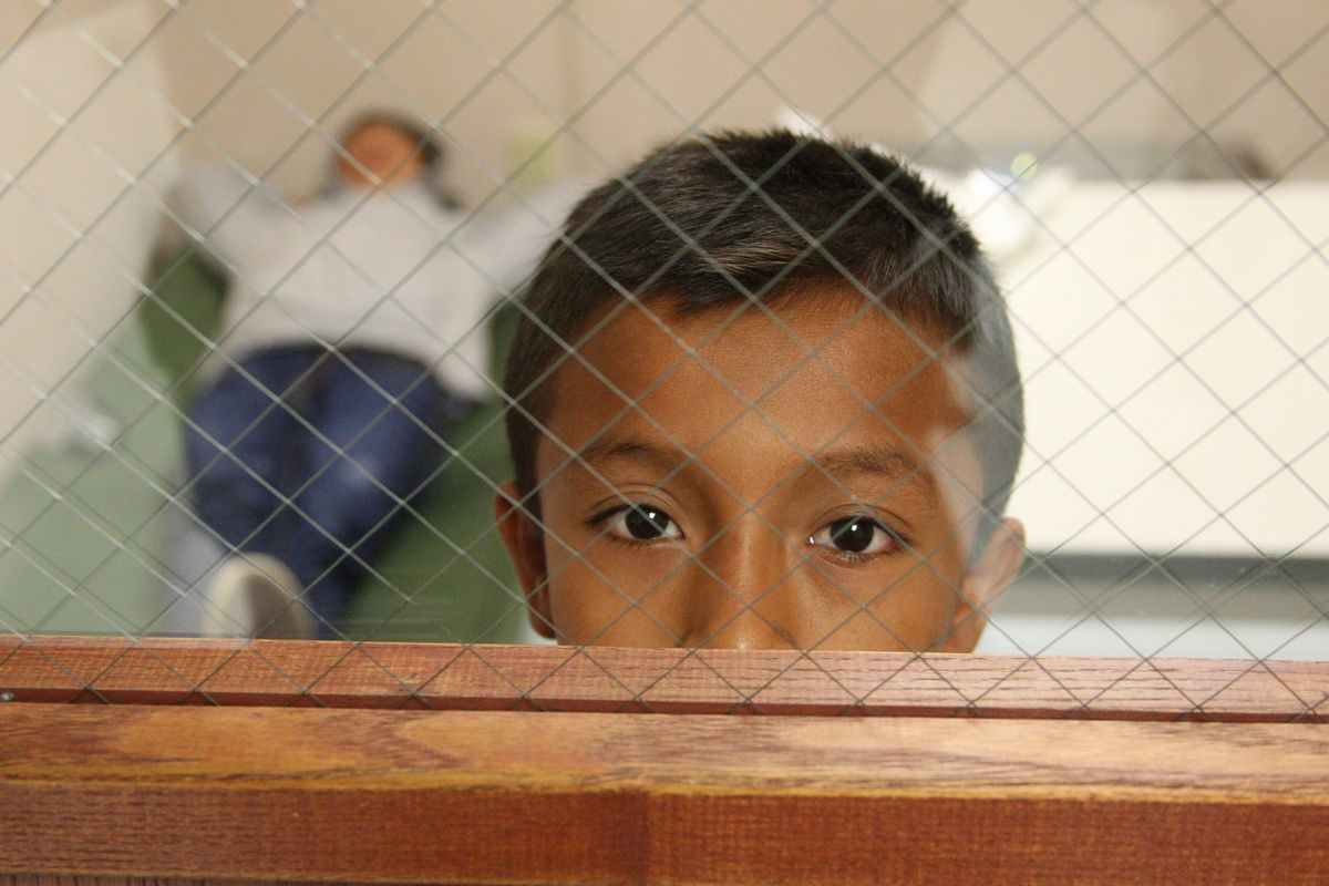 South Texas Border - U.S. Customs and Border Protection provide assistance to unaccompanied alien children after they have crossed the border into the United States. Photo provided by: Eddie Perez