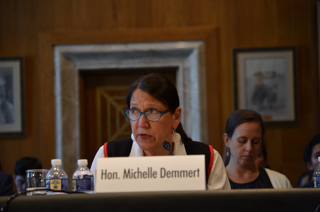 Hon. Michelle Demmert testifies at Senate Indian Affairs Hearing testifying. June 19, 2019.