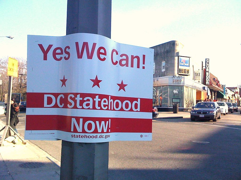 DC Statehood sign