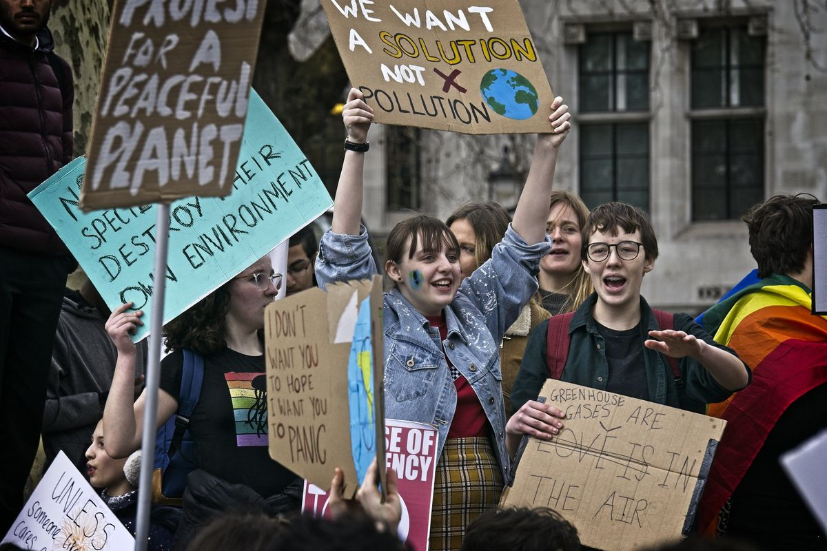 Youth activists at Global Climate Strike.