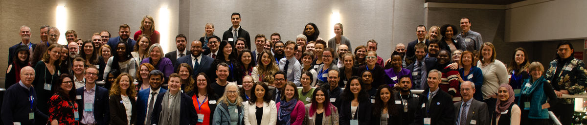 Group photo of FCNL young adult program alums at Annual Meeting 2019