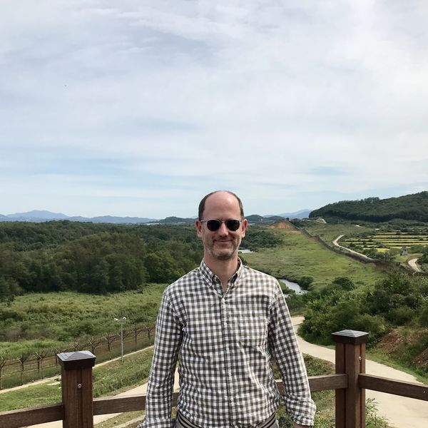 Anthony Wier at the South Korean side of the Demilitarized Zone, September 2019.