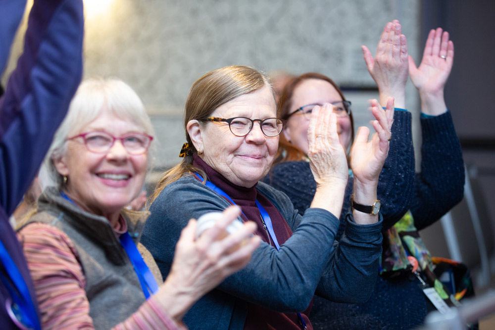 Applauding at Annual Meeting 2019