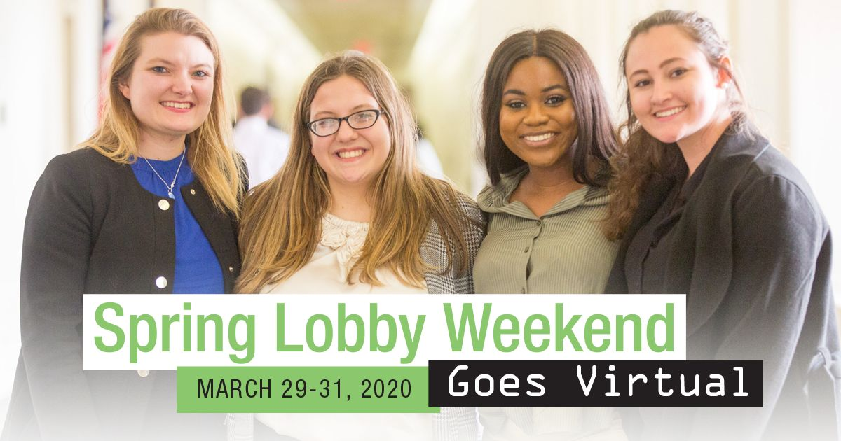 Spring Lobby Weekend will take place online, March 29-31
