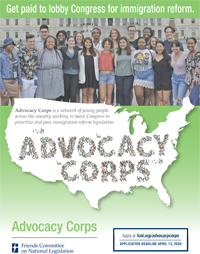Advocacy Corps flyer
