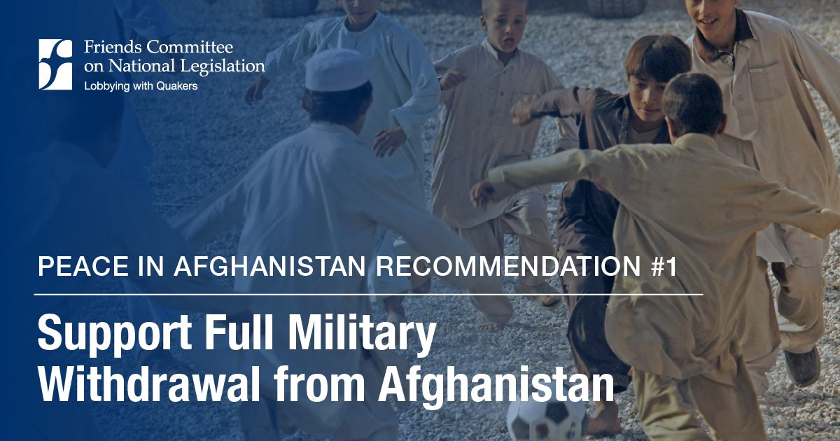 Peace in Afghanistan: Full Military Withdrawal