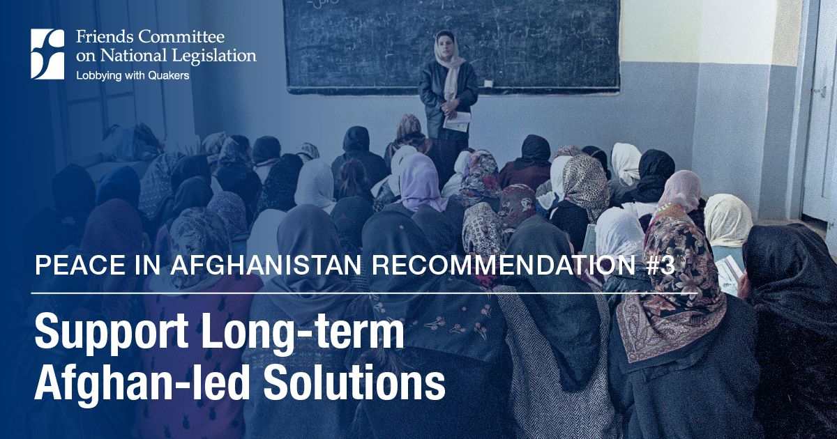 Peace in Afghanistan: Afghan-led Solutions