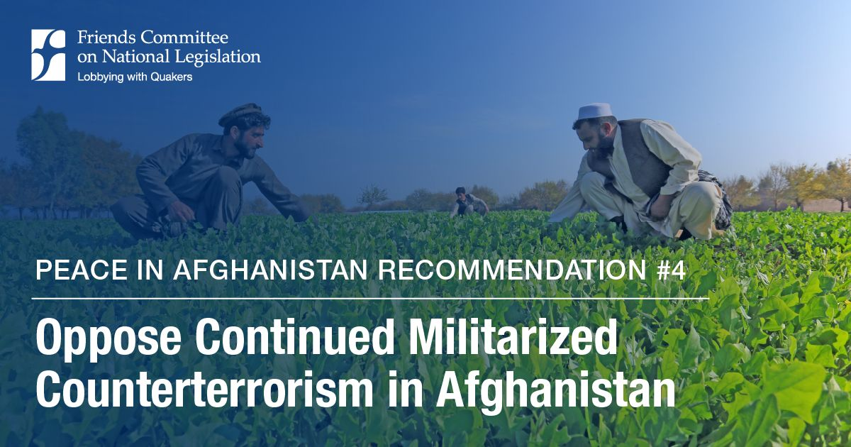 Peace in Afghanistan: Oppose Militarized Counterterrorism