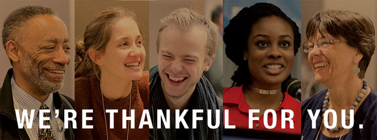 We're thankful for the diversity and strength of the FCNL community.