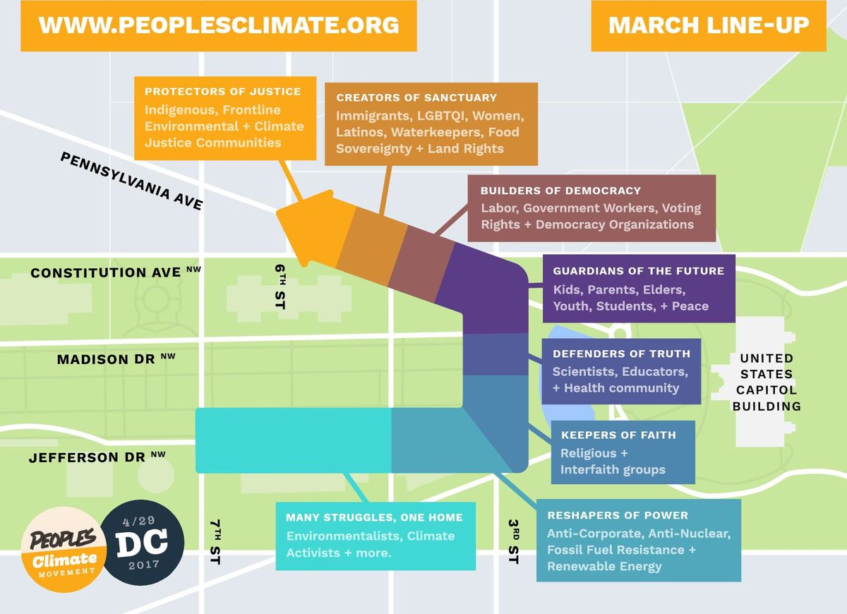 Religious and interfaith groups will assemble on 3rd St NW between Madison Dr NW and Jefferson Dr NW.