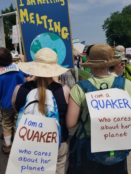 Quakers at a climate march