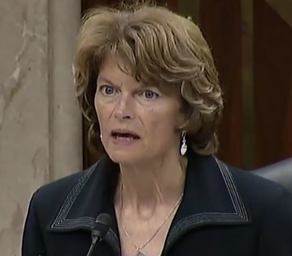 Senator Murkowski looks with disbelief at a witness from the IHS
