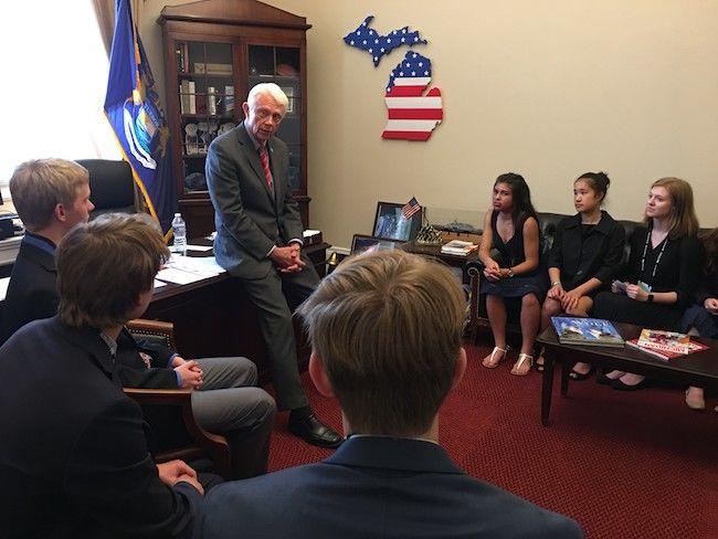 SEA Club members meeting with Rep. Bergman in his D.C. office