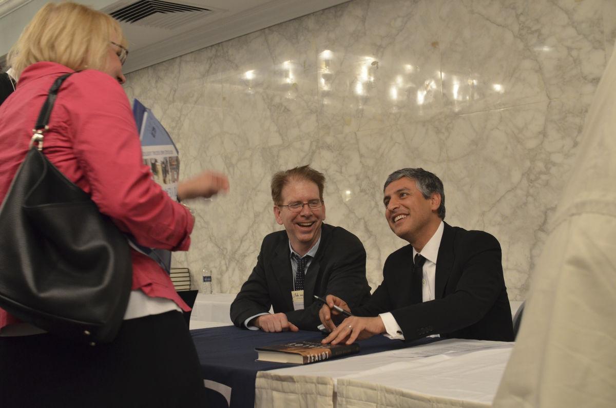 Reza Aslan and Jim Casan book signing Annual Meeting