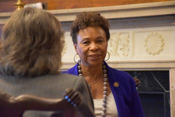 Rep. Barbara Lee (CA) meets with FCNL constituents, Annual Meeting 2017