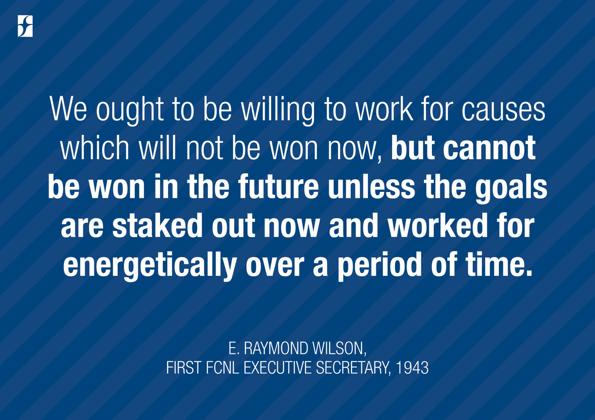 "Quote: ""We ought to be willing work..."""