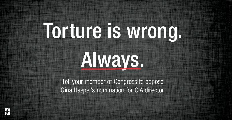 Torture is wrong. Always.