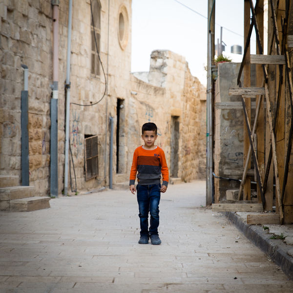 Child in the street in Palestine