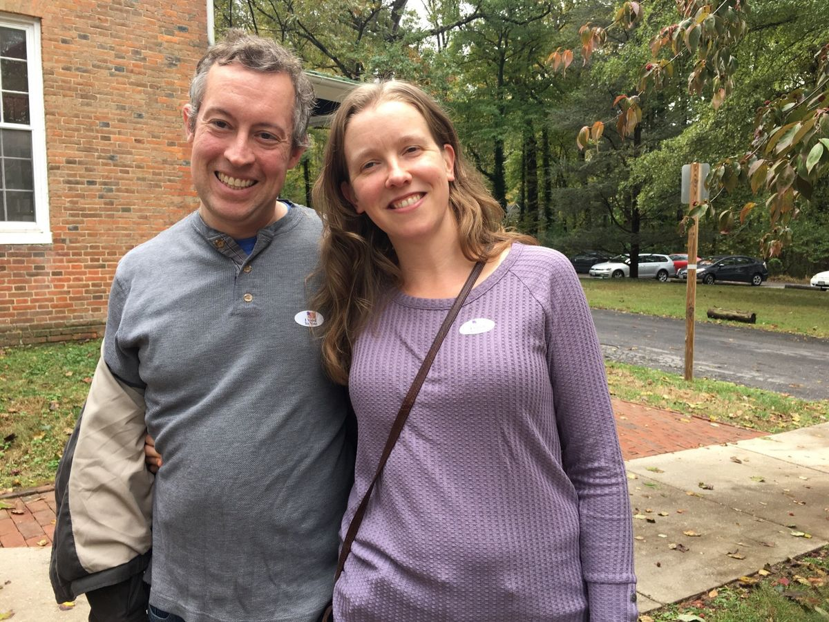 FCNL's Alicia McBride and her husband Sam voted early.