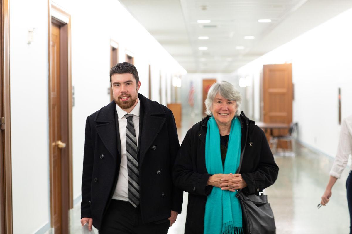 Chris Kearns-McCoy and Laurel Kearns in Senate