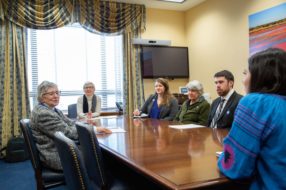 Quakers and friends from New Jersey lobbying on capitol hill.