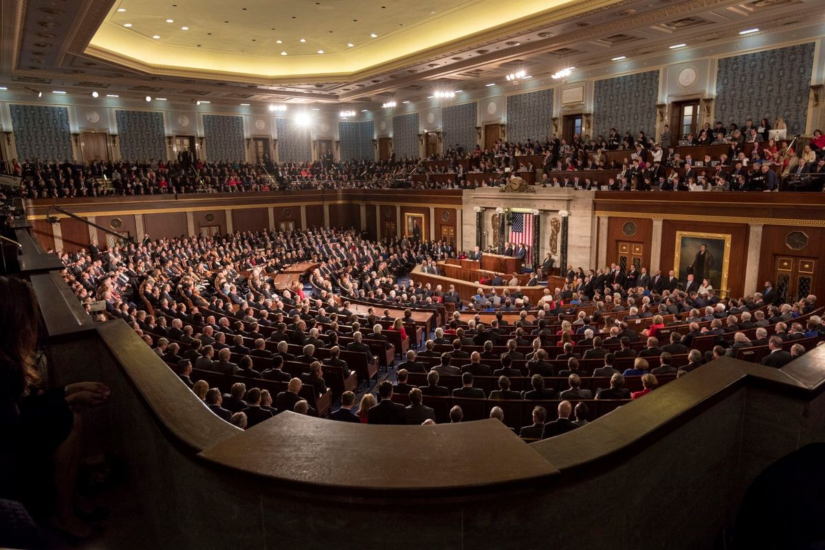 President Trump delivers the State of the Union Address in 2017